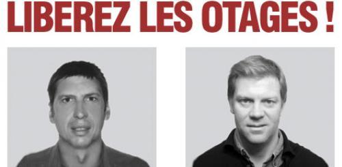 Grande manifestation de soutien pour Stéphane Taponier et Hervé Ghesquière